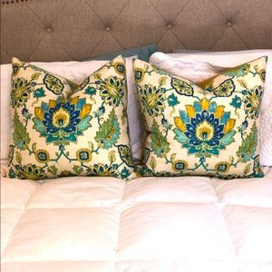 Pier One set of 2 Large down filled decor pillows